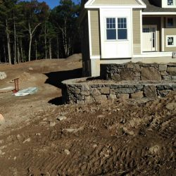 This stone entrance is beginning to look great for the fall season!