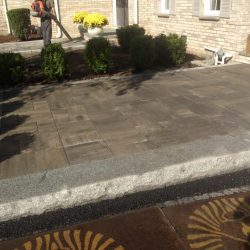 Beautiful and well constructed: a stone patio in Walpole by StonePro