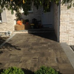 A lovely stone patio looking nice for fall in Walpole
