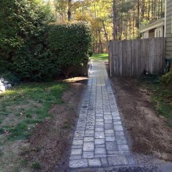 A quaint stone walkway in Walpole