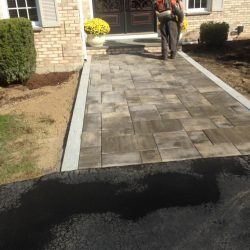 This stone walkway in Walpole is certainly going to look fantastic