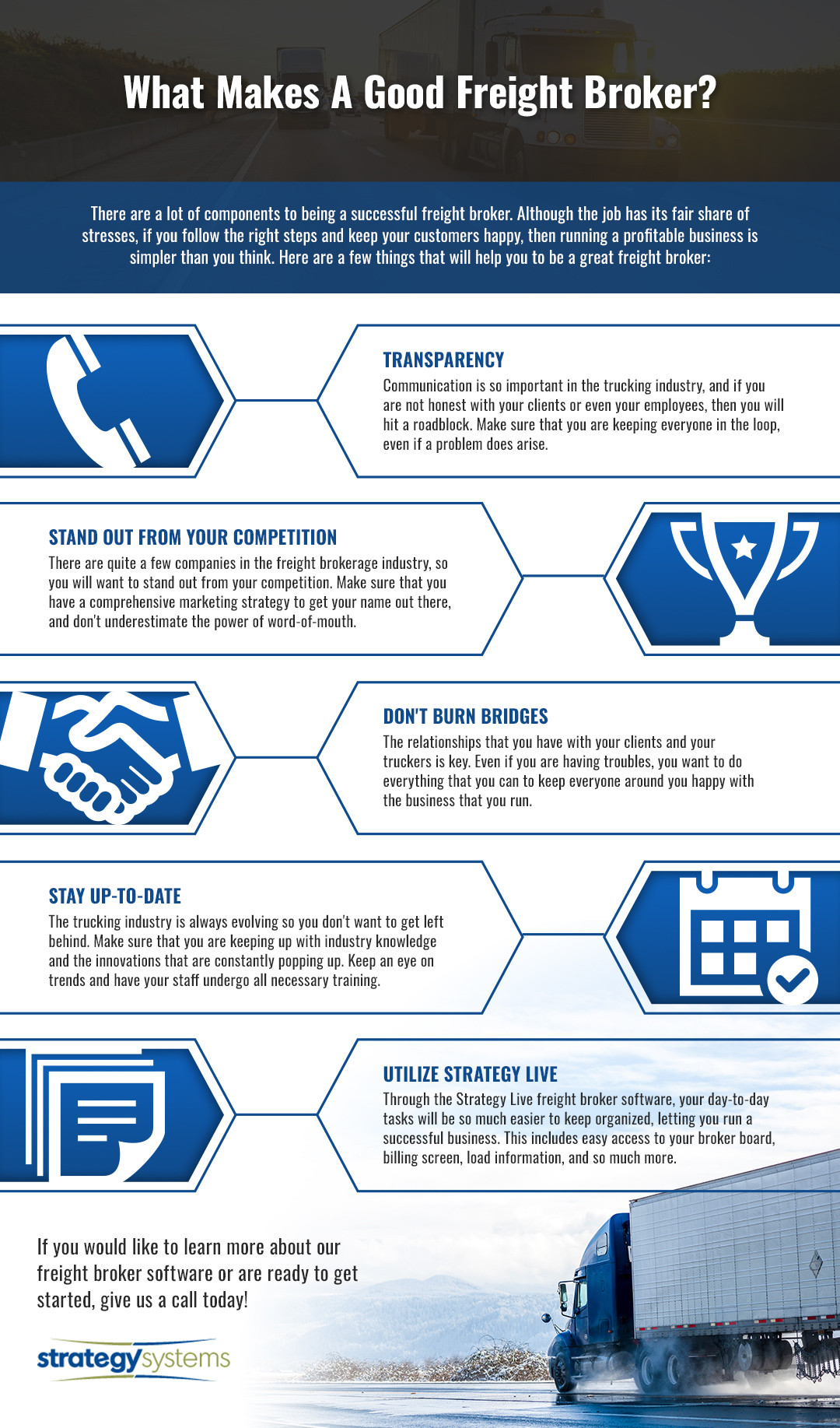 What Makes A Good Freight Broker Infographic