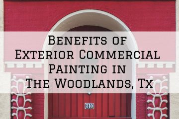 The woodlands, tx, exterior, commercial, painting, streamline painting,