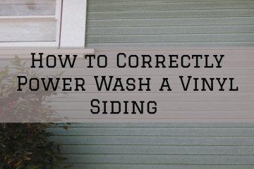 Power washing, exterior power washing, vinyl siding pressure washing