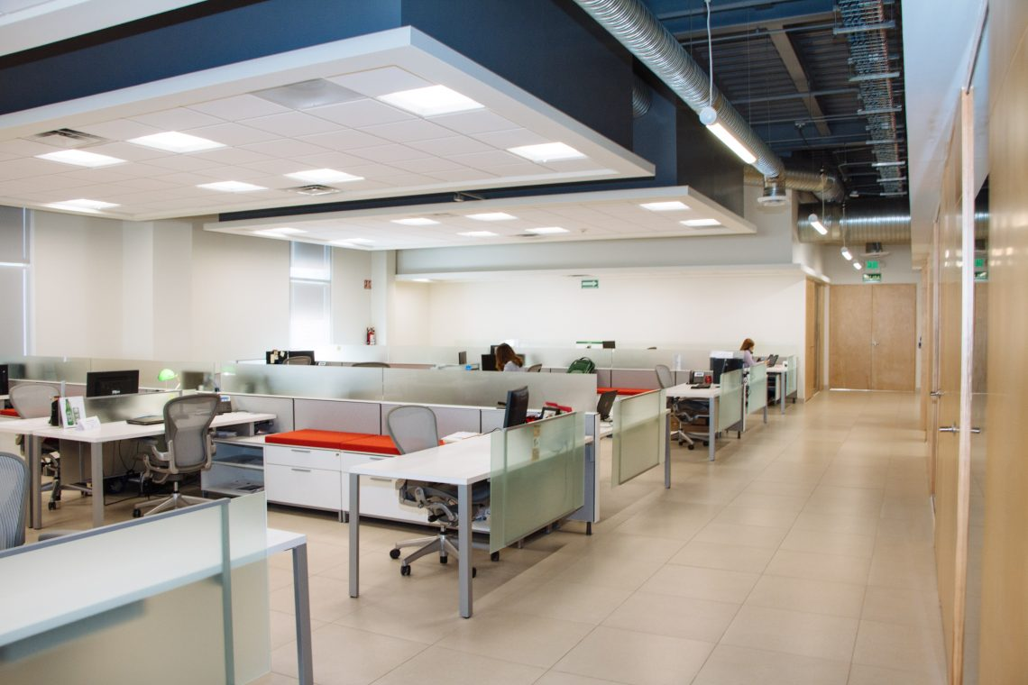 Epoxy provides an extremely durable surface for offices and retail.