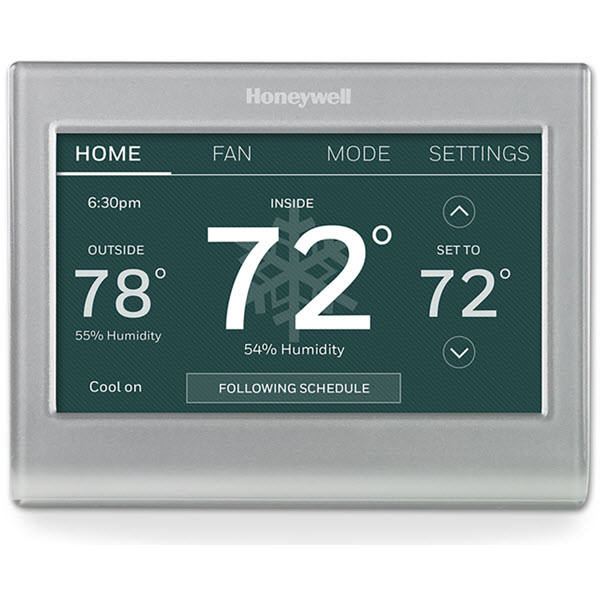 Humidity reader on a thermostat