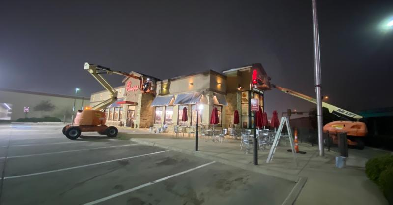 complete overhaul of a store's exterior to boost curb appeal