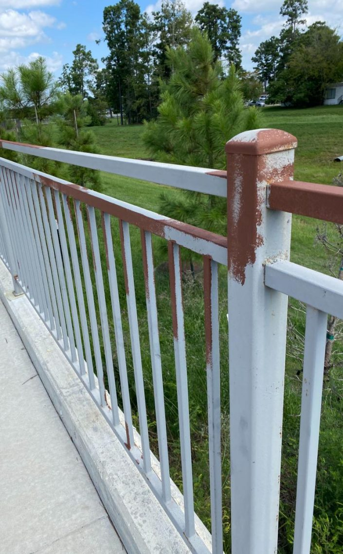 Fence needing new paint