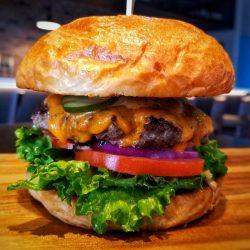 Image of Black Bean Studebaker Burger Close Up