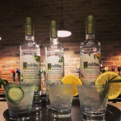 Image of Three Ketel One Bottles and Drinks by Studebaker