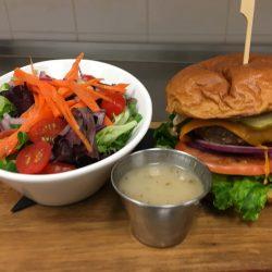 Image of Studebaker Black Bean Burger and Salad