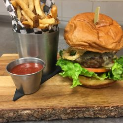 Image of Plated Studebaker Burger and Fries