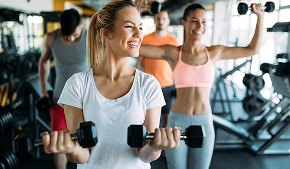 Photo of women using small gym