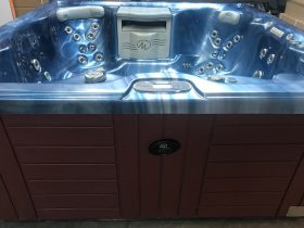 Reconditioned spa with waterfalls