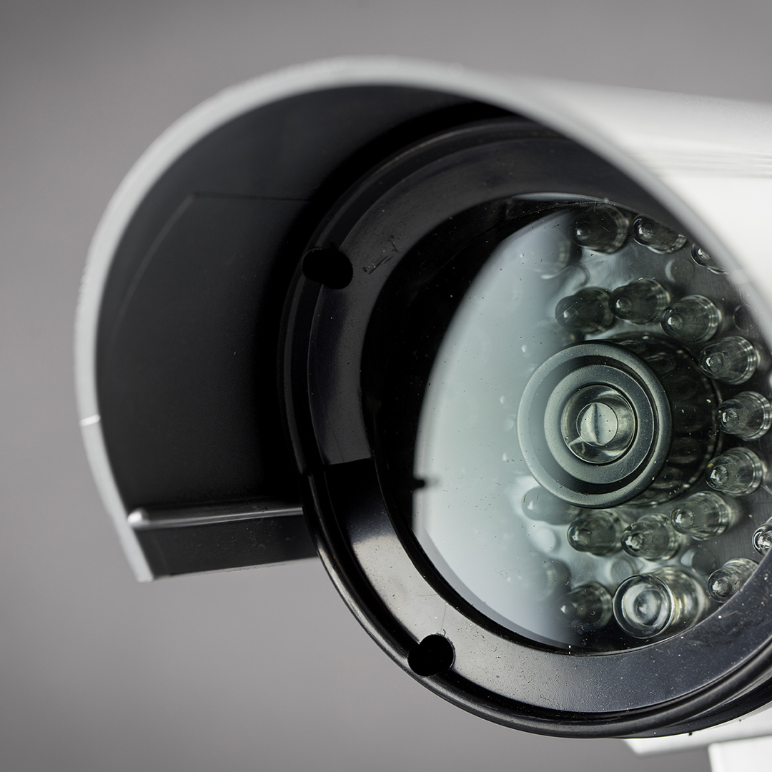 Security camera outside of a building.