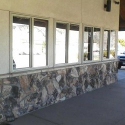Reflective silver commercial window tinting in Durango, Co.