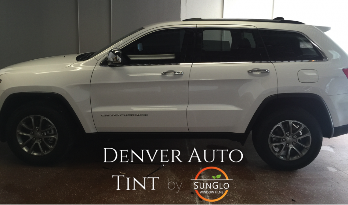 After denver window tinting a 2015 Jeep Grand Cherokee.