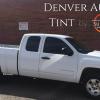 A tinted Chevy Silverado by Denver Auto Tint.
