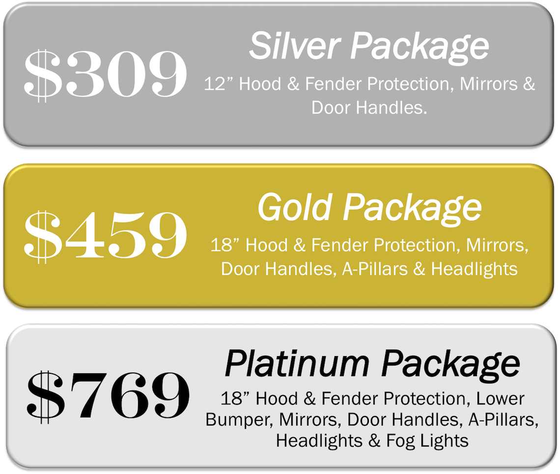 Denver Paint Protection Film Package Prices from Denver Auto Tint!
