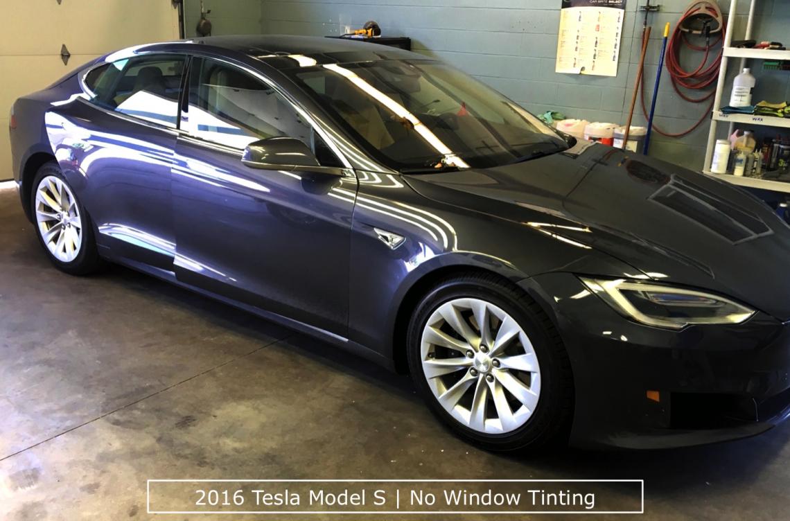 Tesla Before Window Tinting