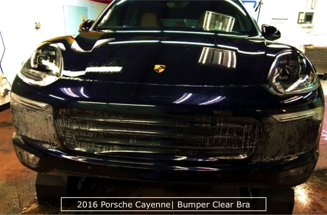 2016 Porsche Cayenne Bumper Clear Bra In Action