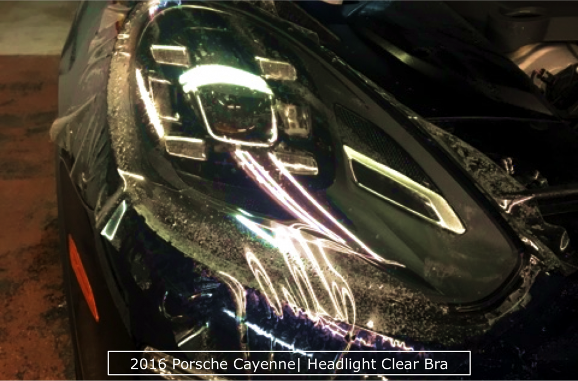 Headlight Clear Bra on Porsche Cayenne