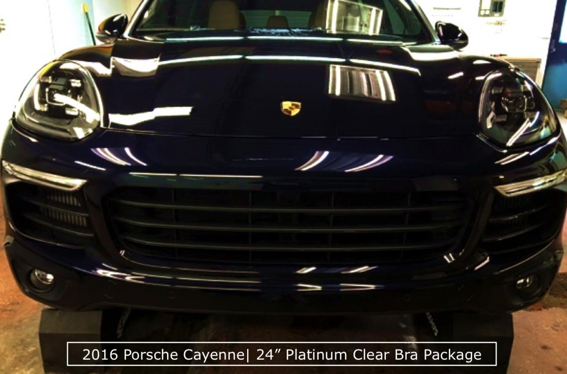 Platinum Clear Bra Package on a 2016 Porsche Cayenne