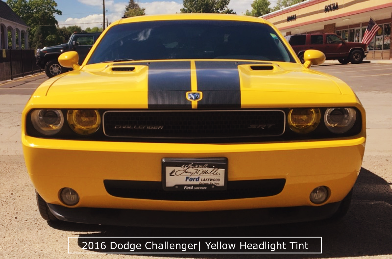 A Beautiful Challenger With Yellow Tinted Headlights
