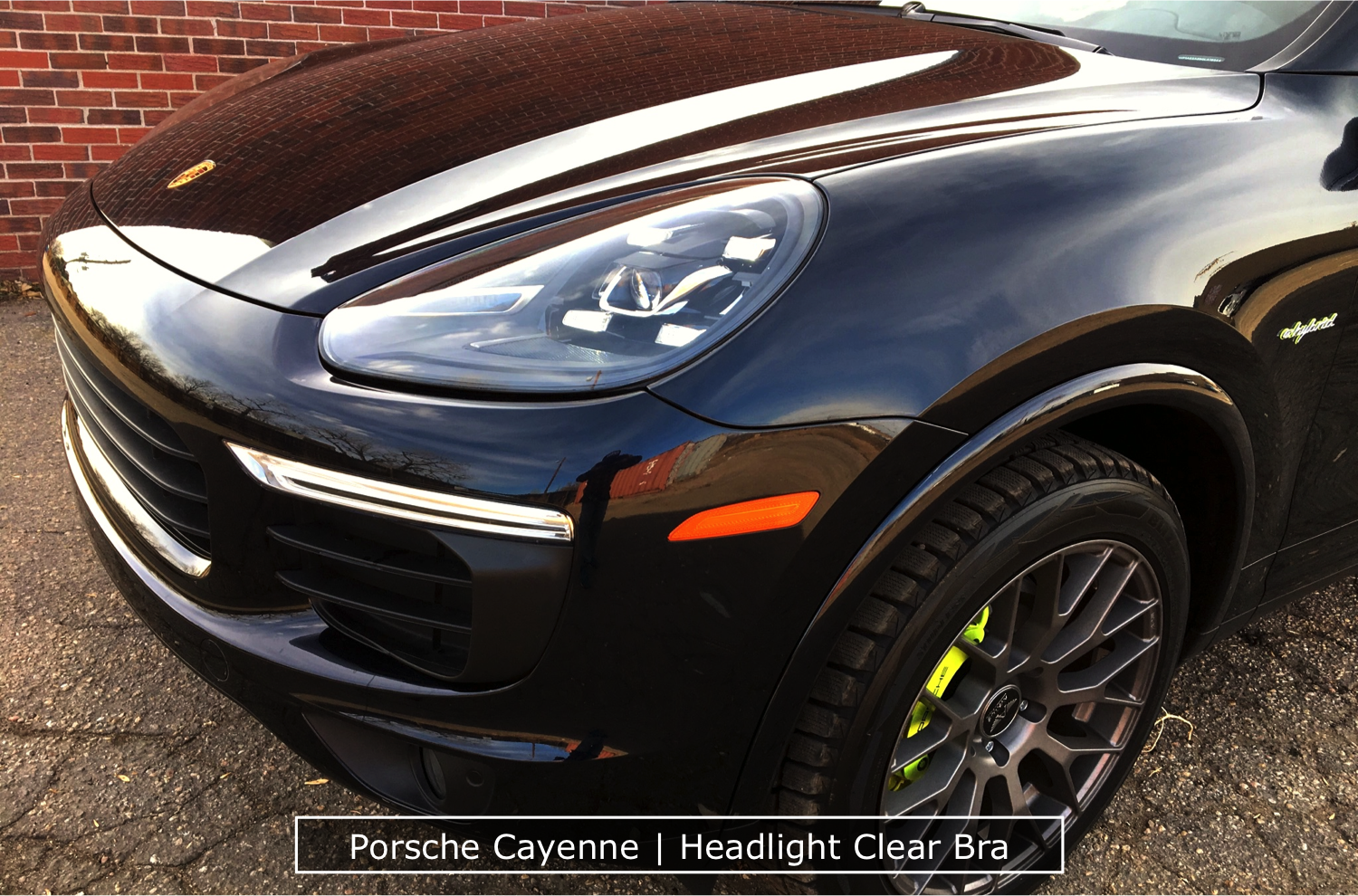 Headlight Clear Bra on A Cayenne by Denver Auto Tint