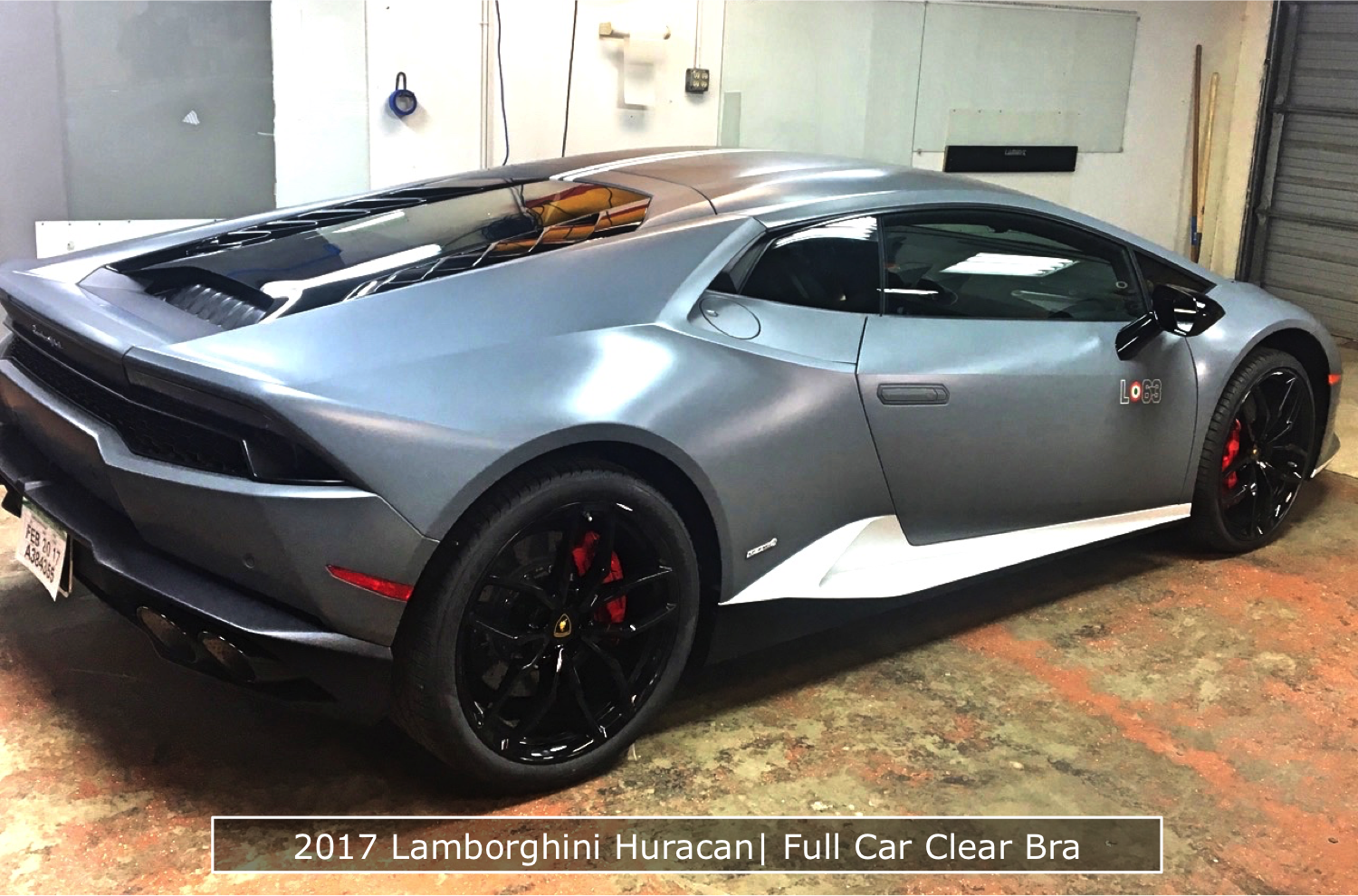 Bumper to Bumper Clear Bra On A 2017 Lamborghini Huracan