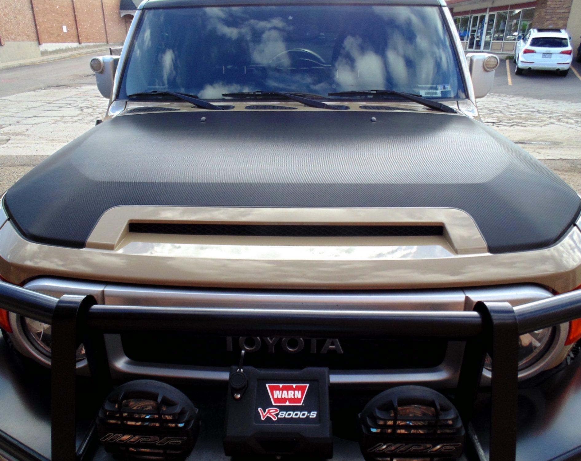 Denver Auto Tint Carbon Fiber Hood Wrap