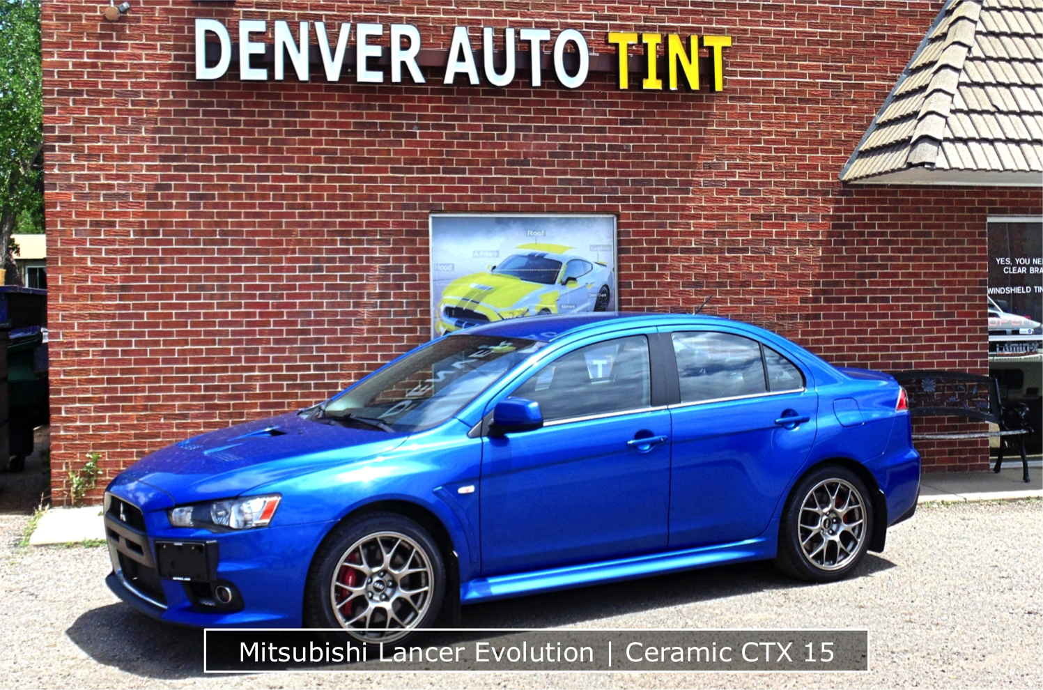 Lancer Evo Ceramic Window Tinting
