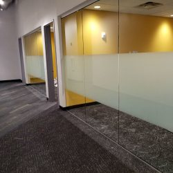 Frosted Window Film In Denver Office