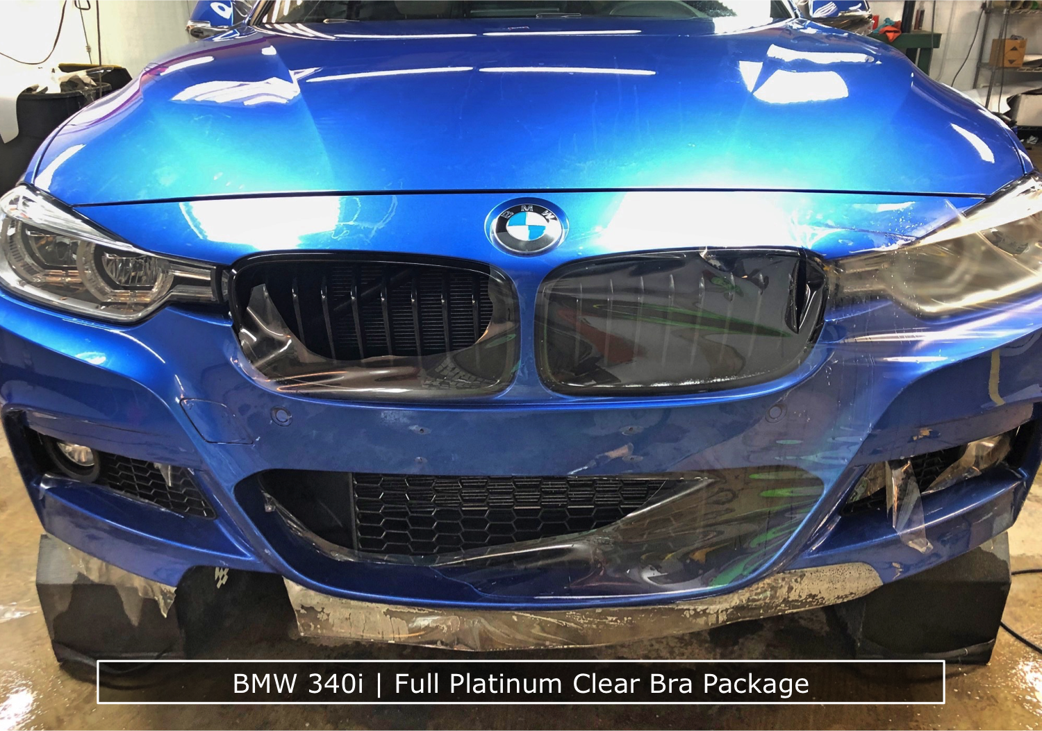 BMW 340i Getting Clear Bra