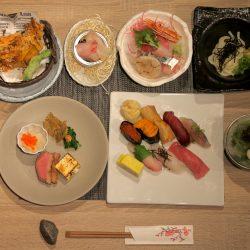 Asian sushi plate