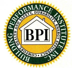 Sustainable Improvements is Building Performance Institute Inc. Certified