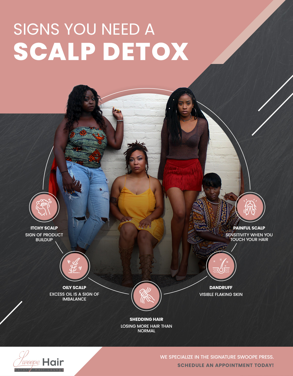 signs you need a scalp detox infographic