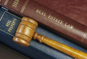 real estate legal texts, gavel