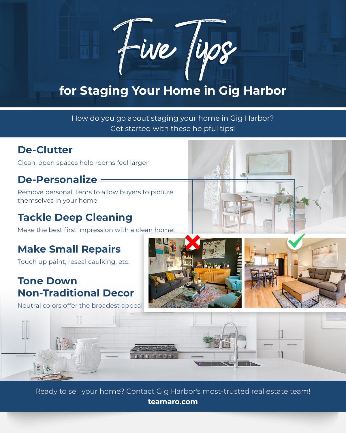 5 Tips for Staging Your Home in Gig Harbor