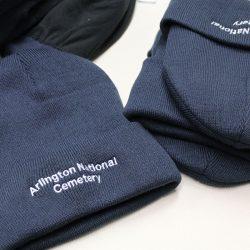 Custom embroidered beanies for Arlington National Cemetery