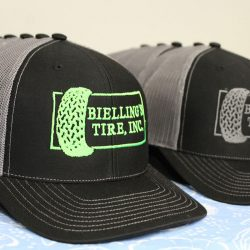 Custom embroidered hats for Bielling's Tire, Inc