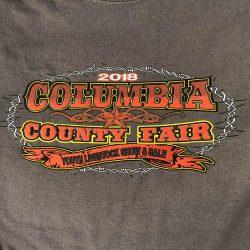 Custom t-shirt for the Columbia County Fair
