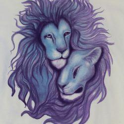 Custom lion t-shirt design