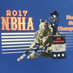 Custom printed t-shirts for the 2017 NBHA