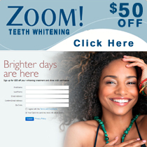 Save on zoom teeth whitening today!