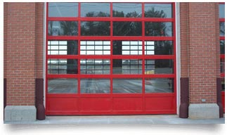 aluminum commercial garage door