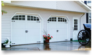carriage house overlay garage door