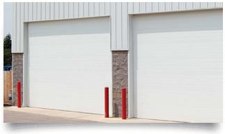 microgrooved commercial garage door