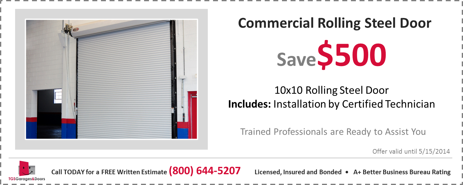 Commercial Metal Door Pricing : Commercial garage door prices installation cost tgs