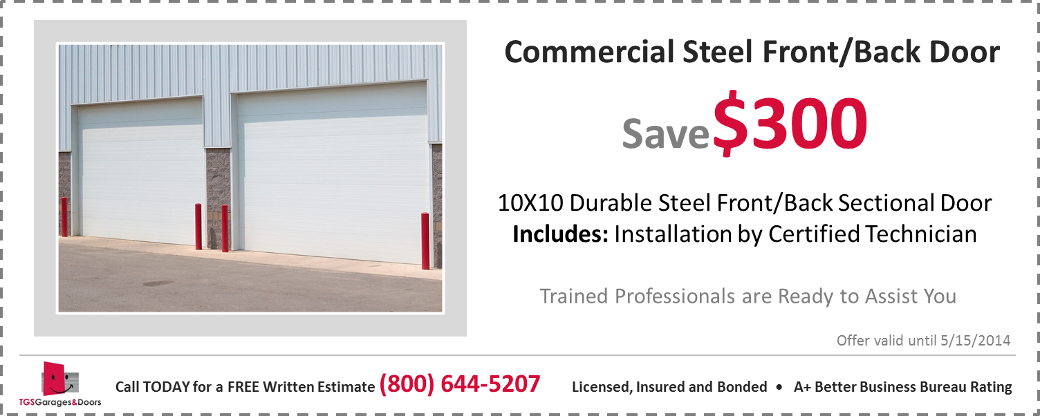 Commerical Steel Front-Back - save 300 032514